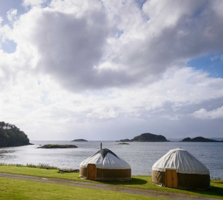 Private Boutique Yurt - £125pp for 12 people
