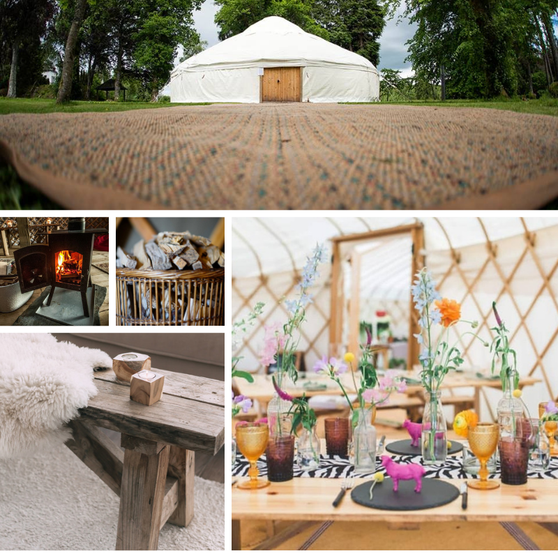 Private Boutique Yurt - £140.99pp for 12 people Package
