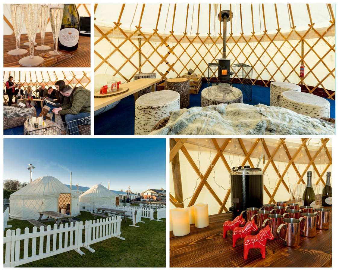 Private Boutique Yurt - £163pp for 12 people